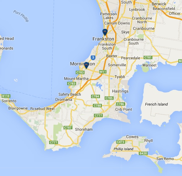 mornington-peninsula-car-rental-map