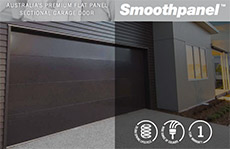 smooth panel garage door